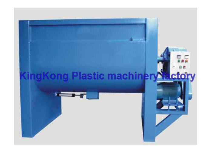 Low Speed Horizontal Spiral Plastic Mixer Machine , Plastic Raw Material Mixer