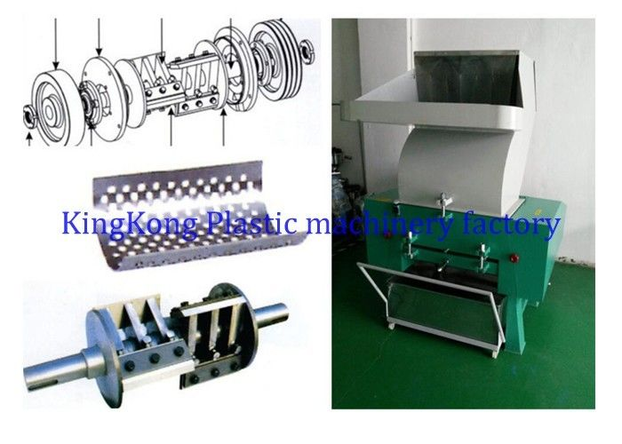 Waste Plastic Crusher Machine For Shoe Material , Plastic Extruder Machine For Footwear Recycling