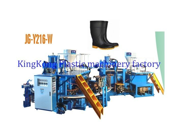 35 Tons Injection Pressure Plastic Shoes Making Machine For Ankle Boots / Short Boots