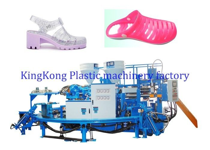 2 Colors PVC Jewelry Shoe Making Machine , Flat Jewelry Sandal Making Machine